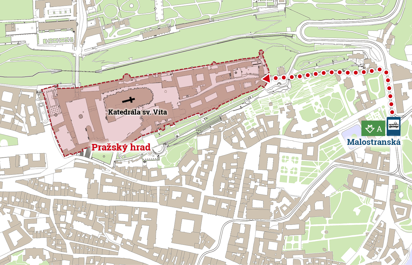 How to get here? - Prague Castle for visitors Castle Map on