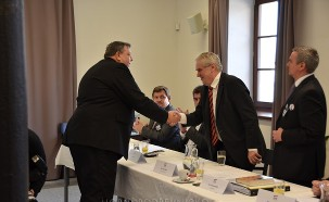 Miloš Zeman visited SPOZ conference in Kunovice