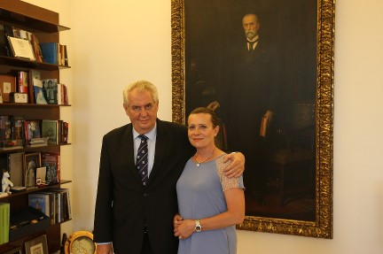 Prezident republiky přijal Alenu Vitáskovou